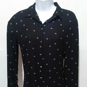 H&M Women's Button Down Blouse Long Sleeve Sz 8